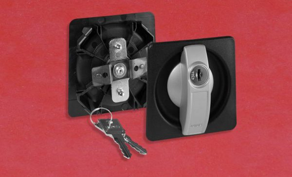 Riegelschloss, Griffschale, Spindschloss, Türschloss RONIS 23500 mit Schlüssel, Hebel, Anbauteile