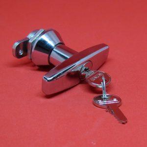 Griff RONIS 1127, Schrankgriff, T-Griff, Türgriff, Fenstergriff, Zweiflügeltür-Griff, Hebel, Anbauteile, Schlüssel
